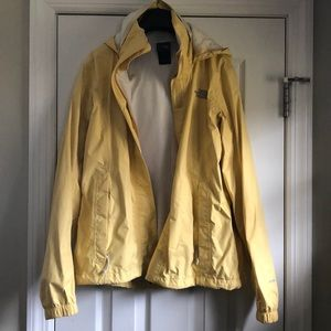 North Face Yellow Rain Jacket